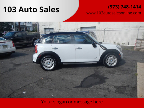 2015 MINI Countryman for sale at 103 Auto Sales in Bloomfield NJ