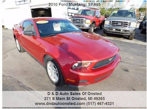 2010 Ford Mustang for sale in Onsted, MI