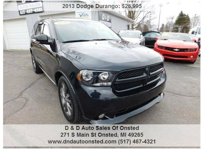 2013 dodge durango awd rt 4dr suv in onsted mi d d auto sales 2013 dodge durango awd rt 4dr suv onsted mi publicscrutiny Choice Image