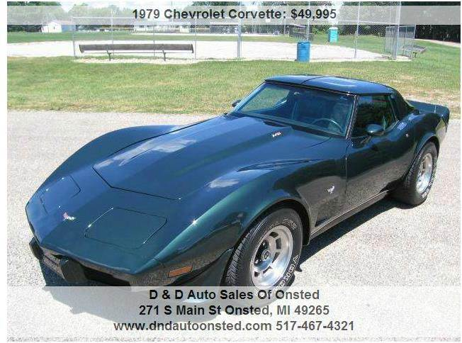 Worksheet. 1979 Chevrolet Corvette L82 In Onsted MI  D  D Auto Sales Of Onsted
