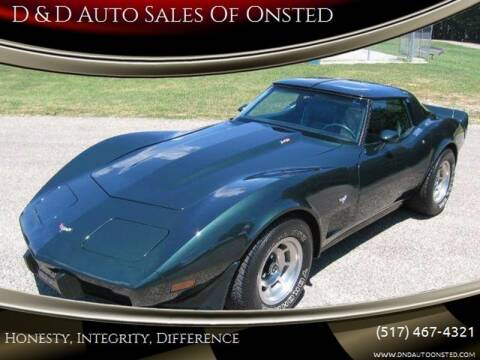 1979 Chevrolet Corvette for sale at D & D Auto Sales Of Onsted in Onsted   Brooklyn MI
