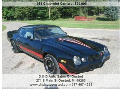 1981 Chevrolet Camaro for sale in Onsted, MI