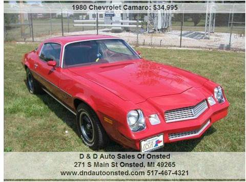1980 Chevrolet Camaro for sale in Onsted, MI