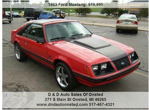 1983 Ford Mustang for sale in Onsted, MI