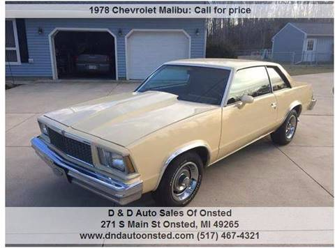 1978 Chevrolet Malibu for sale in Onsted, MI