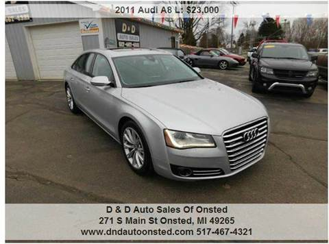 2011 Audi A8 L for sale in Onsted, MI