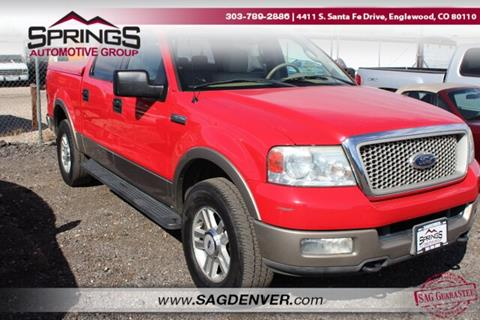 2004 Ford F-150 for sale at Springs Automotive Group #2 in Englewood CO