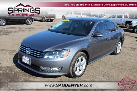 2015 Volkswagen Passat for sale at Springs Automotive Group #2 in Englewood CO