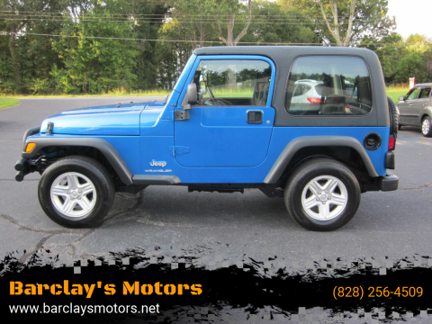 2003 Jeep Wrangler for sale at Barclay's Motors in Conover NC