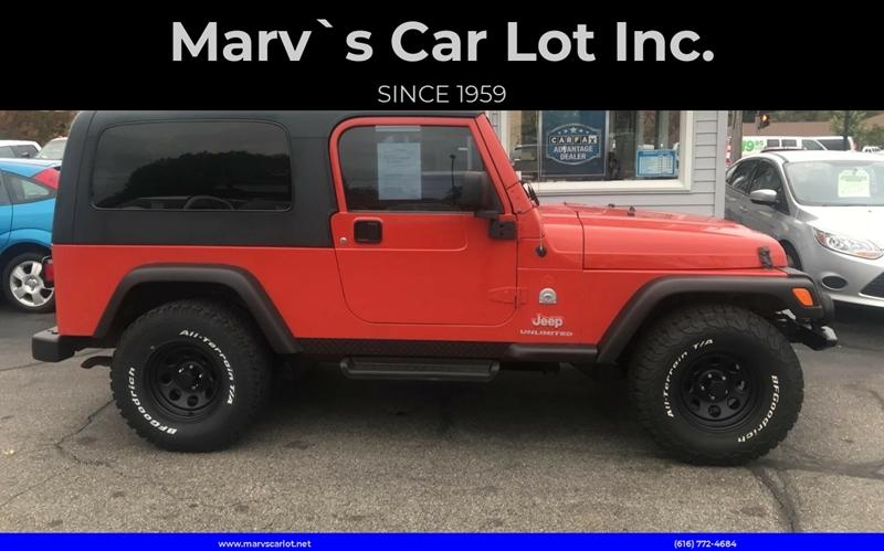 2006 Jeep Wrangler For Sale At Marv`s Car Lot Inc. In Zeeland MI