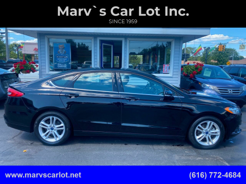 2018 Ford Fusion for sale at Marv`s Car Lot Inc. in Zeeland MI