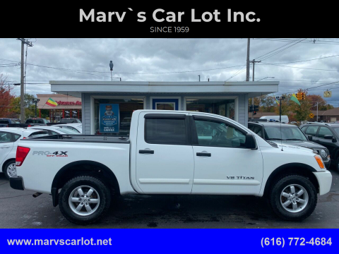 2012 Nissan Titan for sale at Marv`s Car Lot Inc. in Zeeland MI
