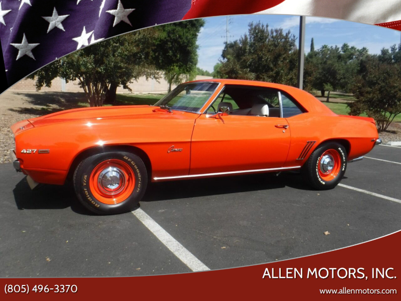 1969 Chevrolet Camaro for sale at Allen Motors, Inc. in Thousand Oaks CA