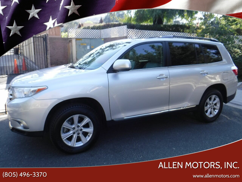 2013 Toyota Highlander for sale at Allen Motors, Inc. in Thousand Oaks CA