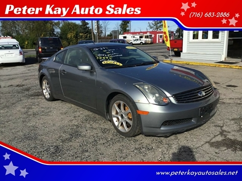 2003 Infiniti G35 for sale at Peter Kay Auto Sales in Alden NY