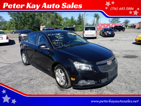 2013 Chevrolet Cruze for sale at Peter Kay Auto Sales in Alden NY