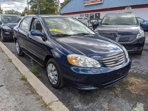 2003 Toyota Corolla for sale at Peter Kay Auto Sales in Alden NY