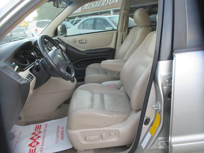 2001 Toyota Highlander for sale at Henderson Auto Sales in Poplar Bluff MO