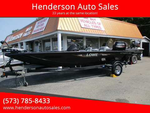 2016 Lowe Stinger 180 for sale at Henderson Auto Sales in Poplar Bluff MO