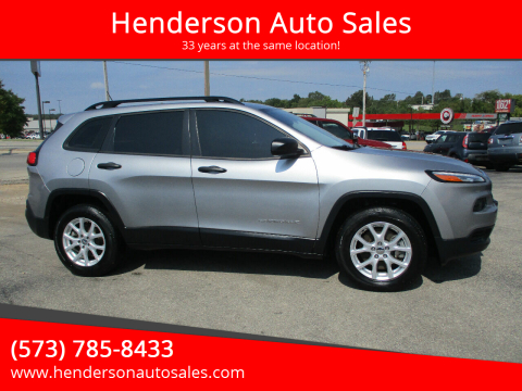 2015 Jeep Cherokee for sale at Henderson Auto Sales in Poplar Bluff MO