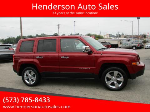 2017 Jeep Patriot for sale at Henderson Auto Sales in Poplar Bluff MO