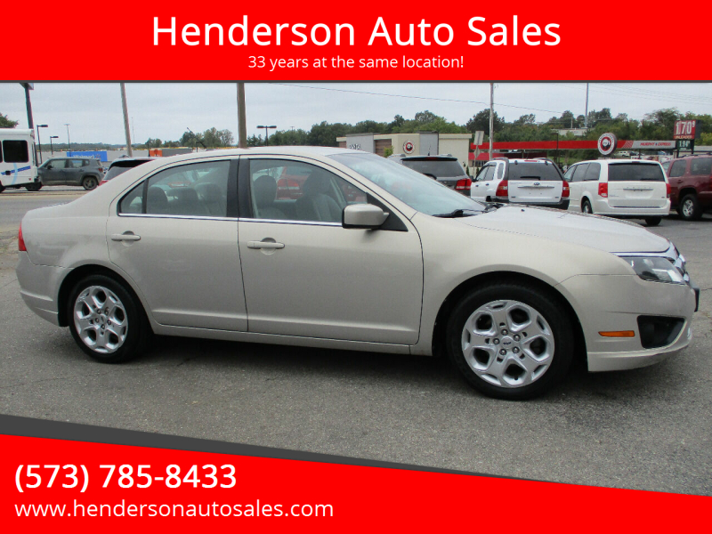 2010 Ford Fusion for sale at Henderson Auto Sales in Poplar Bluff MO