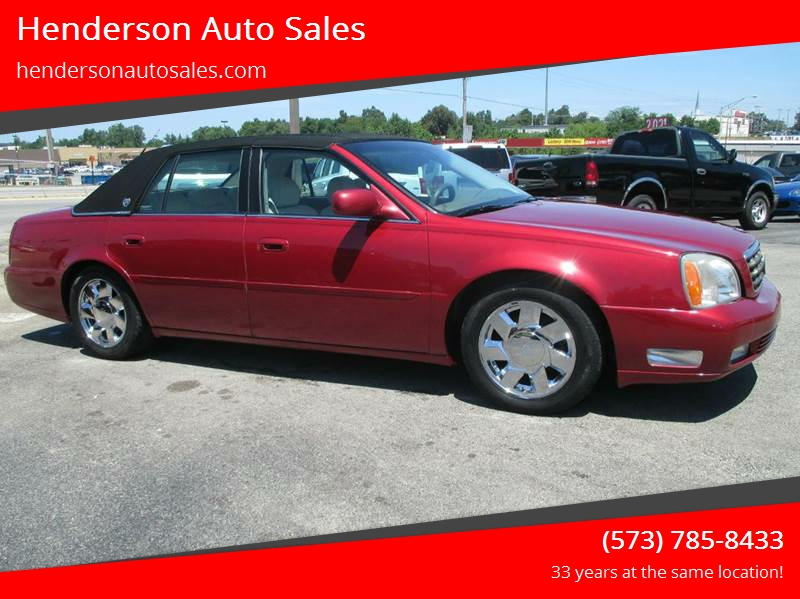 2001 Cadillac Deville Dts In Poplar Bluff Mo Henderson Auto Sales