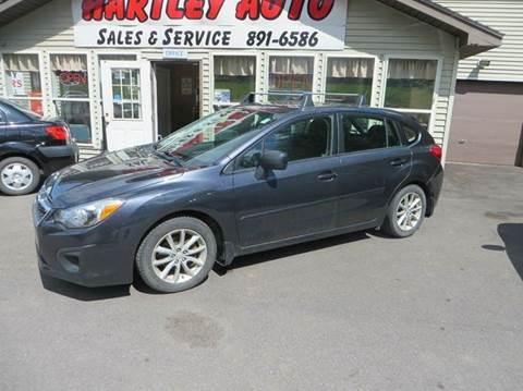 2012 Subaru Impreza for sale at Hartley Auto Sales & Service in Milton VT