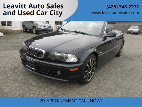 2002 BMW 3 Series for sale at Leavitt Auto Sales and Used Car City in Everett WA