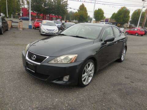 2006 Lexus IS 250 for sale at Leavitt Auto Sales and Used Car City in Everett WA