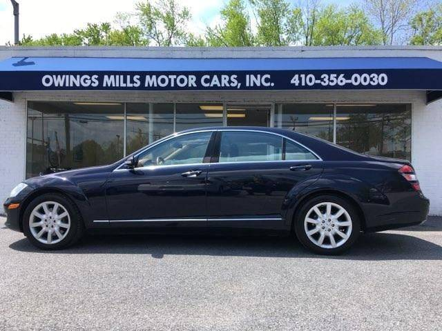2007 Mercedes Benz S Class For Sale At Owings Mills Motor Cars In Owings
