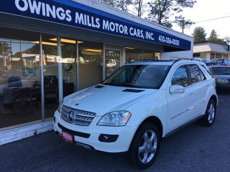 2008 Mercedes Benz M Class For Sale At Owings Mills Motor Cars In Owings