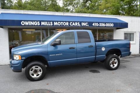 2004 Dodge Ram Pickup 2500 for sale at Owings Mills Motor Cars in Owings Mills MD