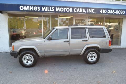 2001 Jeep Cherokee for sale at Owings Mills Motor Cars in Owings Mills MD