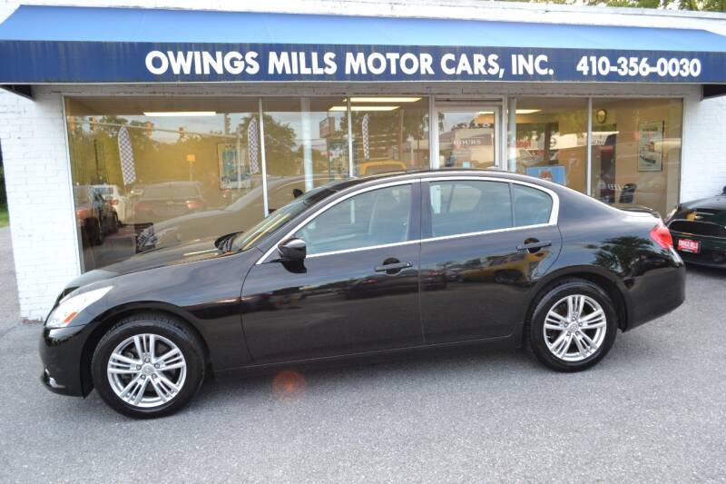 2012 Infiniti G25 Sedan for sale at Owings Mills Motor Cars in Owings Mills MD