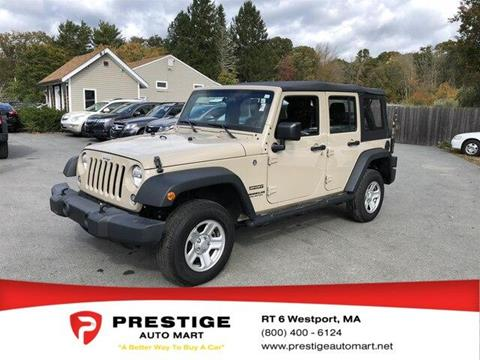 2016 Jeep Wrangler Unlimited for sale in Westport, MA