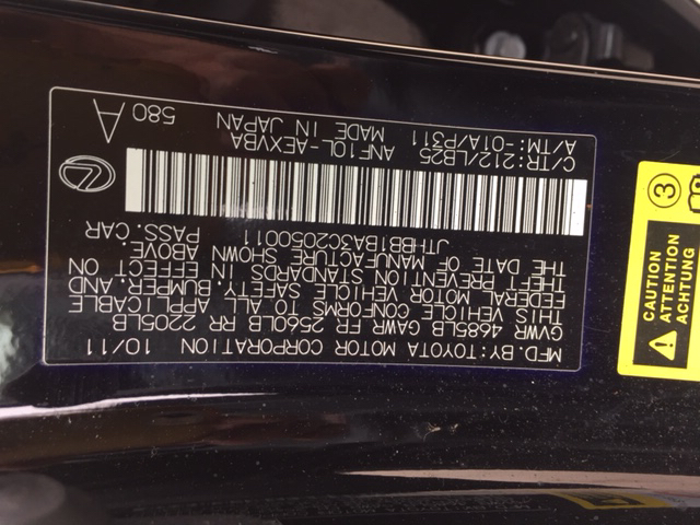 2012 Lexus HS 250h for sale at Mister Auto in Lakewood CO