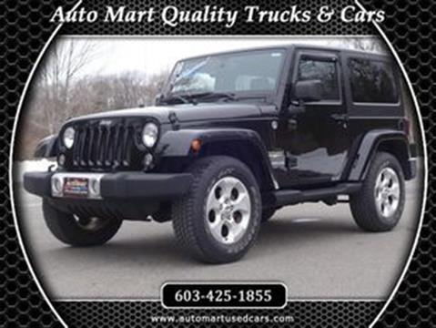 2014 Jeep Wrangler for sale in Derry, NH