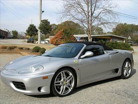 2002 Ferrari 360 Spider for sale at South Atlanta Motorsports in Mcdonough GA