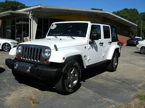 2013 Jeep Wrangler Unlimited for sale at South Atlanta Motorsports in Mcdonough GA