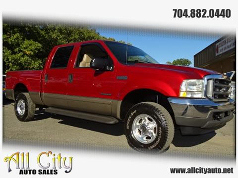 2002 Ford F-250 Super Duty for sale at All City Auto Sales in Indian Trail NC