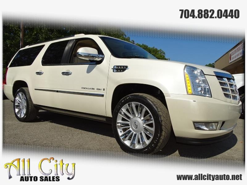 2007 Cadillac Escalade Esv In Indian Trail Nc All City Auto Sales