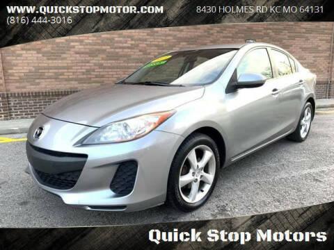 2013 Mazda MAZDA3 for sale at Quick Stop Motors in Kansas City MO