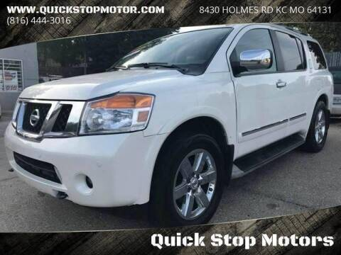 2013 Nissan Armada for sale at Quick Stop Motors in Kansas City MO