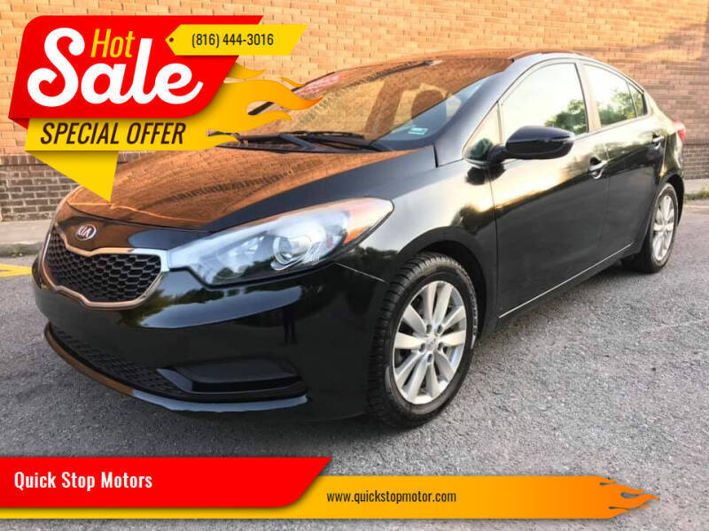 2014 Kia Forte for sale at Quick Stop Motors in Kansas City MO