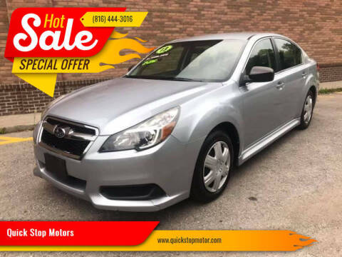 2014 Subaru Legacy for sale at Quick Stop Motors in Kansas City MO
