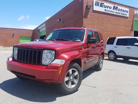 2008 Jeep Liberty for sale at Euro Motors LLC in Raleigh NC
