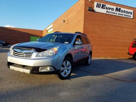 2012 Subaru Outback for sale at Euro Motors LLC in Raleigh NC