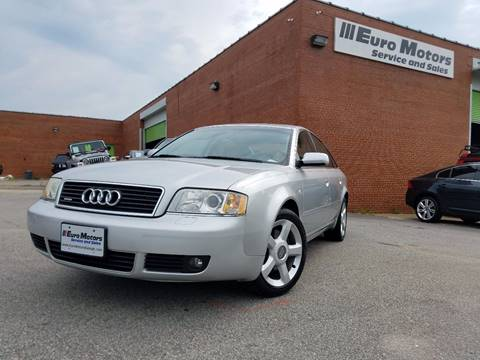 2004 Audi A6 for sale at Euro Motors LLC in Raleigh NC