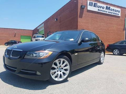 2007 BMW 3 Series for sale at Euro Motors LLC in Raleigh NC
